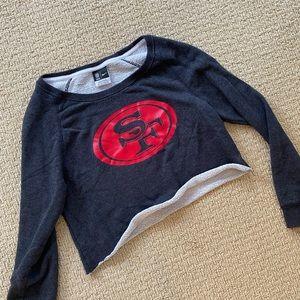 Cropped Nike 49ers crew neck sweatshirt